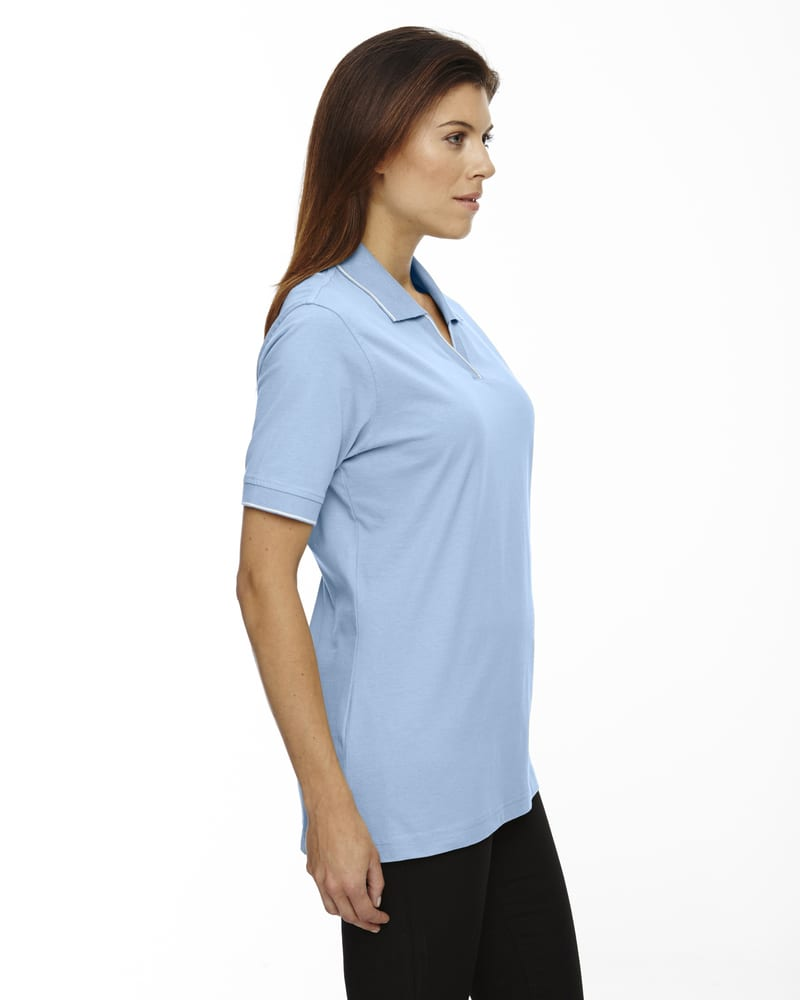 Ash City Extreme 75009 - Ladies' Johnny Collar Jersey Polo With Pencil Stripe