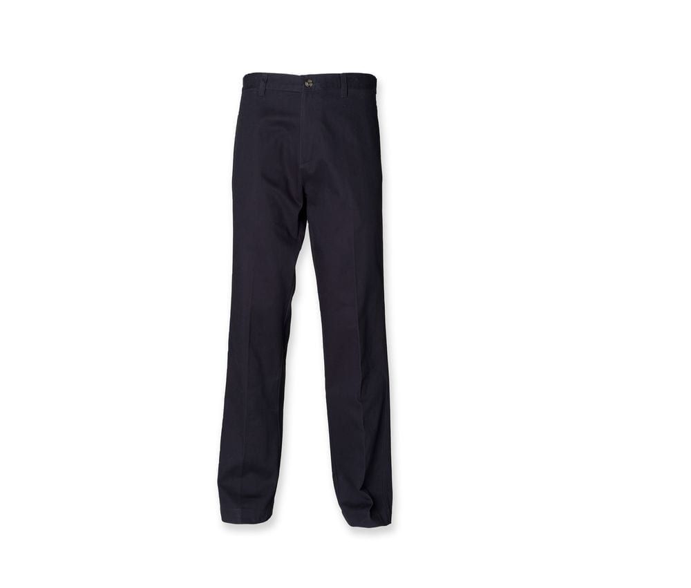Henbury HY608 - Flat Fronted Chino Trousers