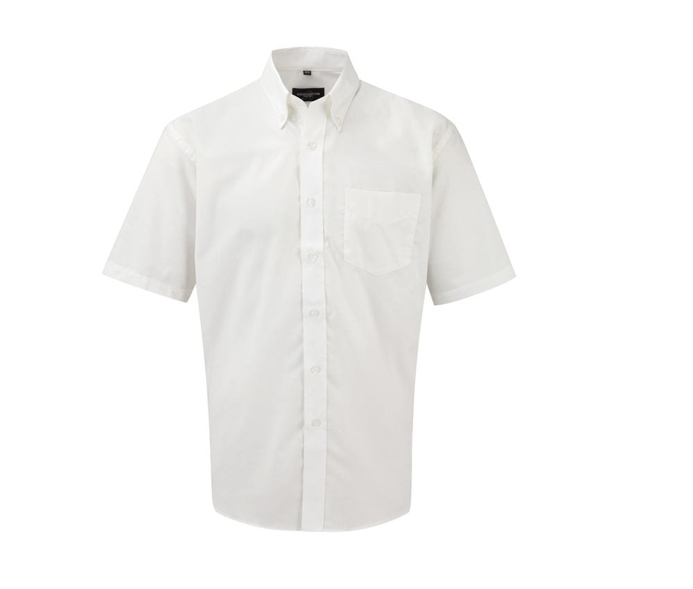 Russell Collection JZ933 - Men's Short Sleeve Easy Care Oxford Shirt