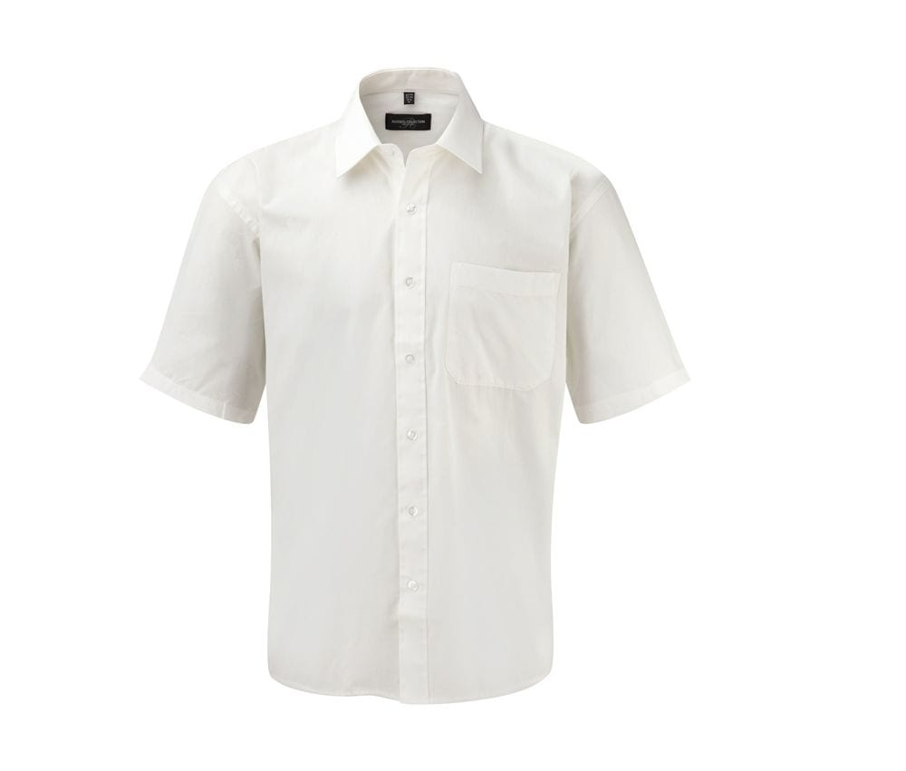 Russell Collection JZ937 - Chemise Manche Courte Homme 100% Coton
