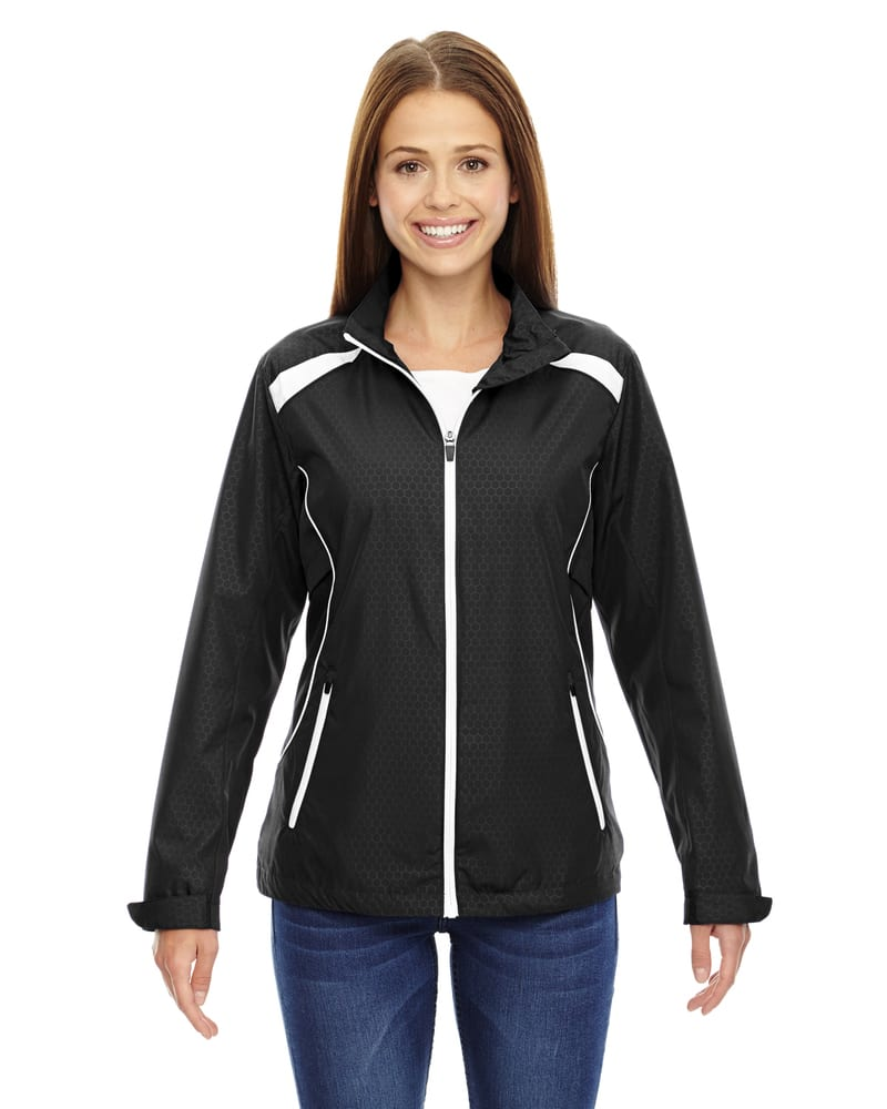 Ash City North End 78188 - Tempo Jacket Ladies' Lightweight Recycled Polyester Jacket With Embossed Print