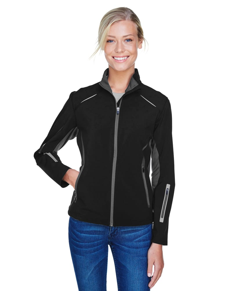 Ash City North End 78678 - Pursuit Ladies' 3-Layer Light Bonded Hybrid Soft Shell Jacket With Laser Perforation