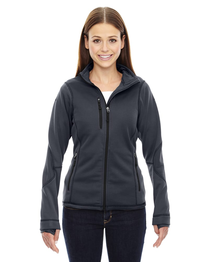 Ash City North End 78681 - Pulse Ladies' Textured Bonded Fleece Jackets With Print
