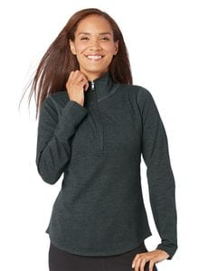 LAT 3764 - Ladies French Terry Quarter-Zip Pullover