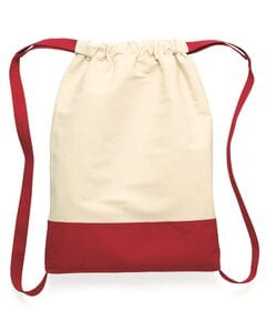 Liberty Bags 8876 - Cotton Canvas Contrast Bottom Drawstring Backpack