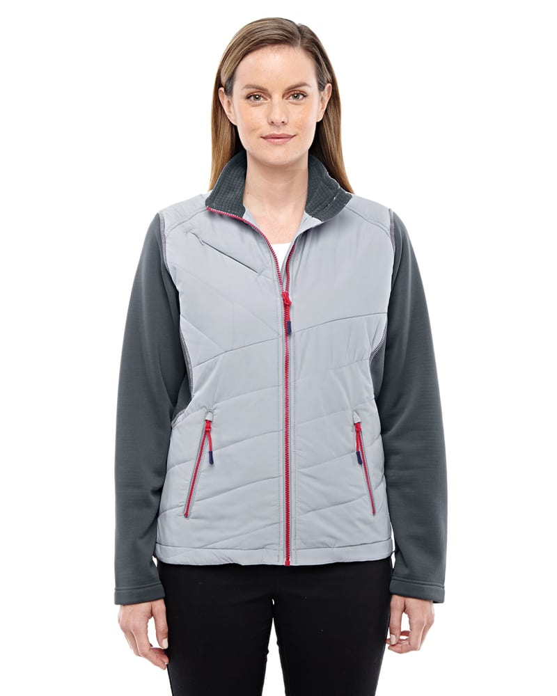 Ash City North End Sport Red 78809 - Ladies Quantum Interactive Hybrid Insulated Jacket