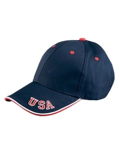 Adams NT102 - 6-Panel Mid-Profile Cap with USA Embroidery