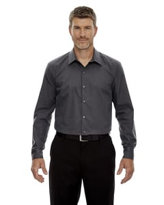Ash City North End  88674 - Mens Boardwalk Wrinkle-Free Two-Ply 80s Cotton Striped Tape Shirt