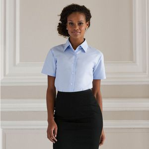 Russell Collection JZ33F - Ladies Short Sleeve Easy Care Oxford Shirt