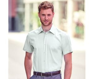 Russell Collection JZ959 - Mens Short Sleeve Tailored Ultimate Non Iron Shirt