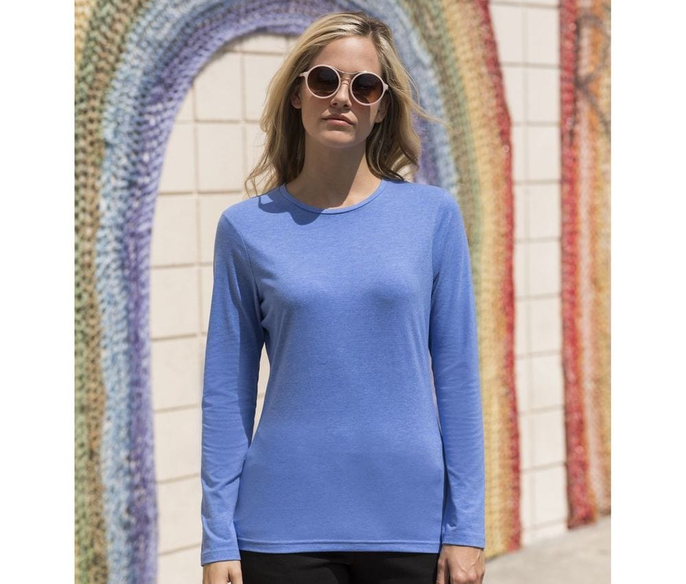 Skinnifit SK124 - Tee-Shirt Stretch Femme Manches Longues