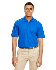 Core 365 88181R - Mens Radiant Performance Piqué Polo with Reflective Piping