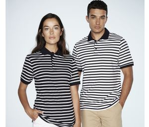 Front Row FR230 - Striped Jersey Polo Shirt