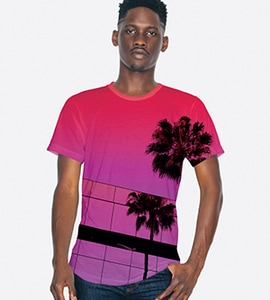 American Apparel pl401w - IMPORTED UNISEX SUBLIMATIN TEE