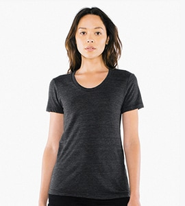 American Apparel tr301w - Imported Womens Tri-Blend Crew Tee
