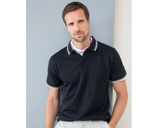 Henbury HY482 - Polo collar and contrasting sleeves