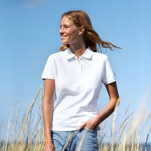 Neutral O22980 - Womens quilted polo shirt